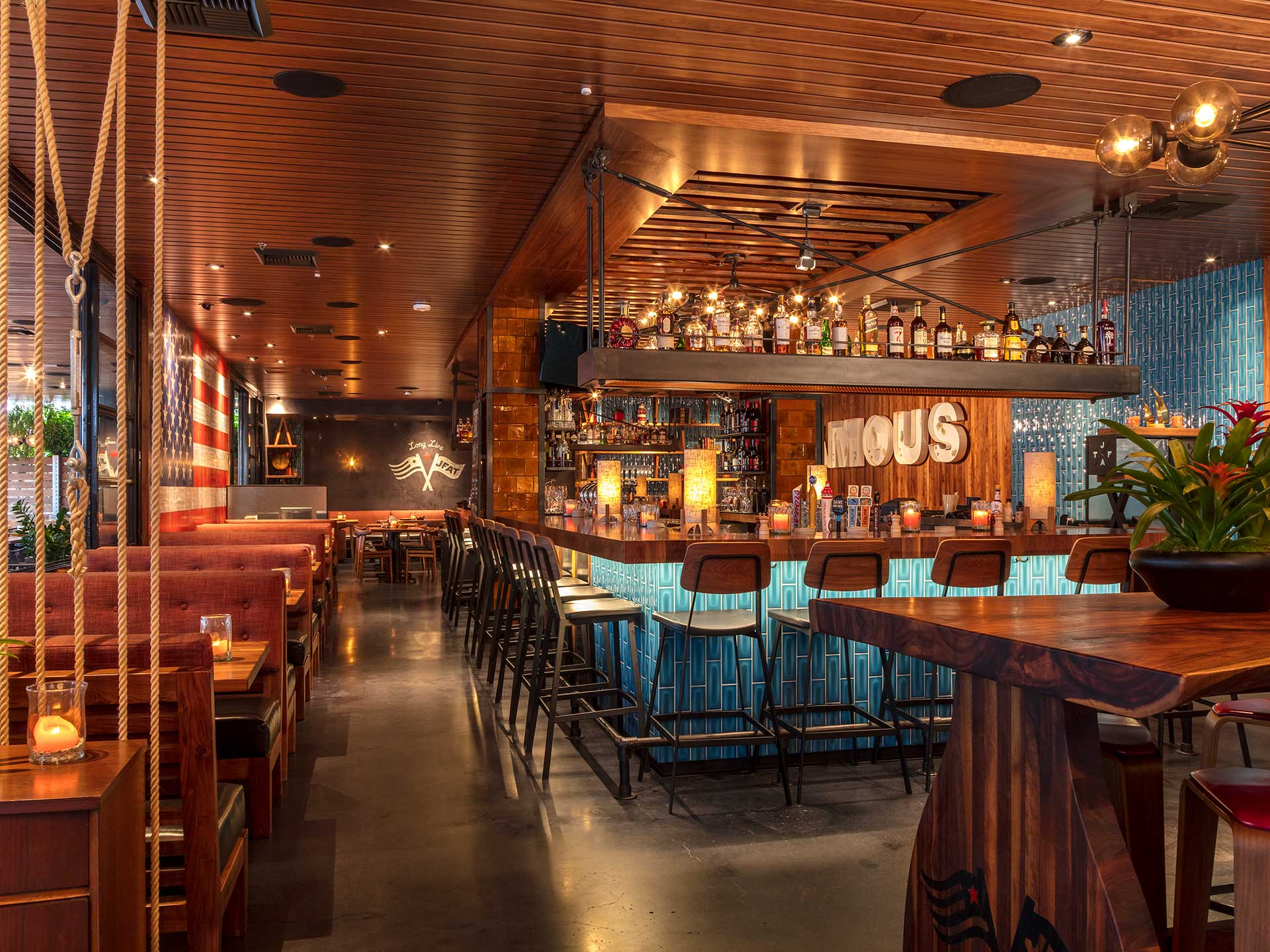 Jimmy's Santa Monica offers a hip bar and dining room experience