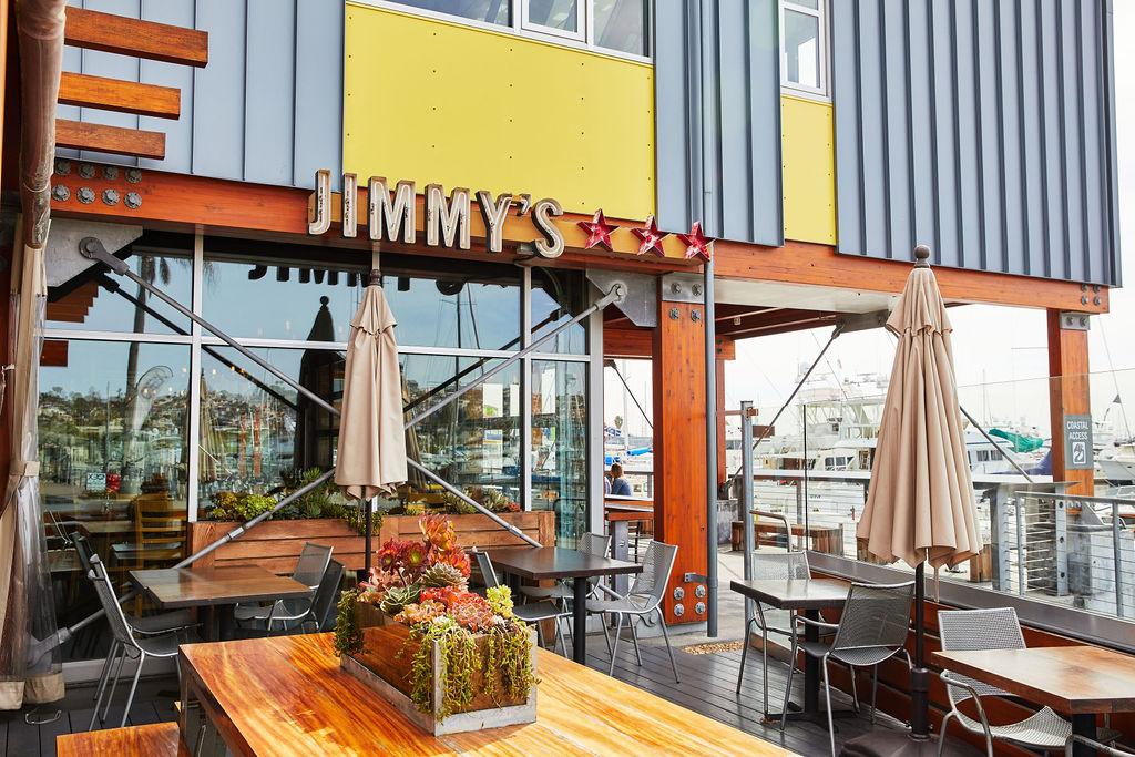 Jimmy's San Diego offers marina-side patio seating